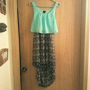 Rue 21 Mint High-Low print dress